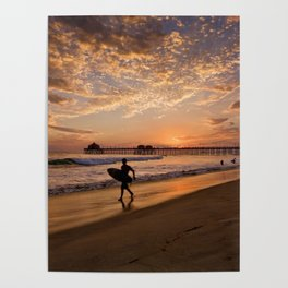 Surf City Sunsets   9/10/15   Huntington Beach California  Poster