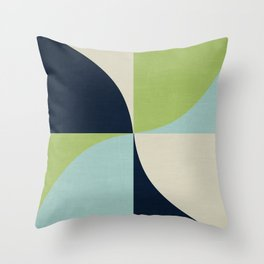 mod petals - lake Throw Pillow