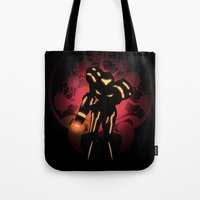 metroid Tote Bags featuring Metroid by Casa del Kables