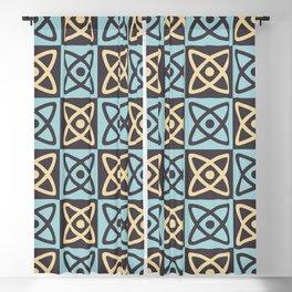 Mid Century Modern Atomic Check 125 Blackout Curtain