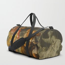 With the grace of God and the effort of will we obtain the excellence of virtue Duffle Bag