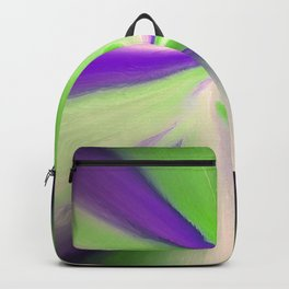 Green and Purple Abstract Art Backpack