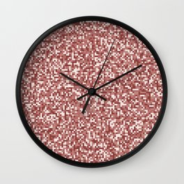 Pixel Hash / Digital Mince / Cubistic Hamburger Meat Wall Clock