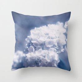 Grace and Beauty Defined a blue Hydrangea flower Throw Pillow