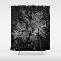 dallas Shower Curtains featuring Dallas map Texas by Line Line Lines