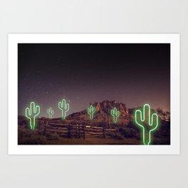 UFO forest Art Print