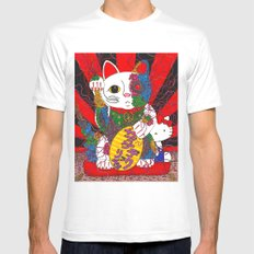 Psychedelic Senman Mens Fitted Tee White MEDIUM