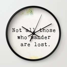 Travellers quote 3 Wall Clock