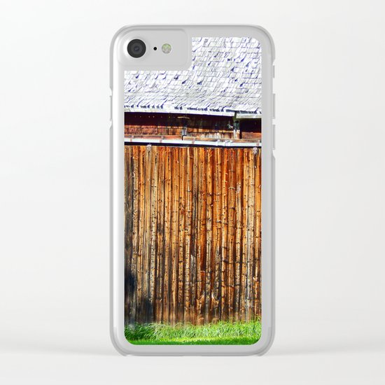 Open Barn Door Clear iPhone Case