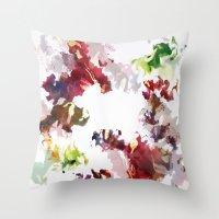 splatter Throw Pillows featuring Splatter by Leechi