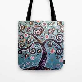 abstract Art Landscape Original Painting ... Dancing In the Light Tote Bag