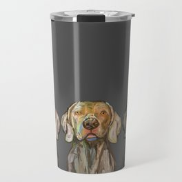 Triple Hunting Dogs in Dark Travel Mug