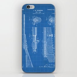 Bolt Action Rifle Patent - Browning Rifle Art - Blueprint iPhone Skin