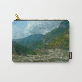 Mountain landscape in polygon technique Carry-All Pouch