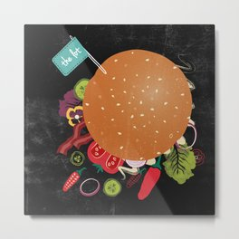 Burger With The Lot Metal Print