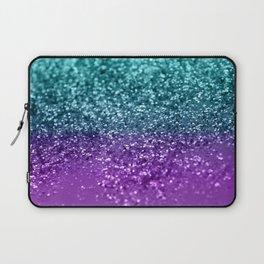 Purple Teal MERMAID Girls Glitter #1 #shiny #decor #art #society6 Laptop Sleeve