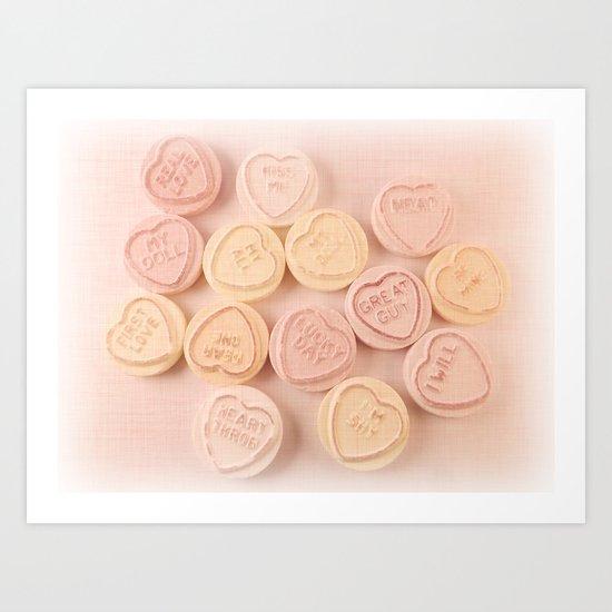 Love Linen Art Print