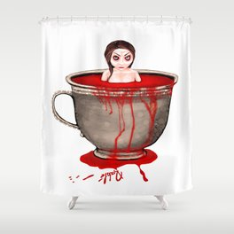 Cup of Blood Shower Curtain