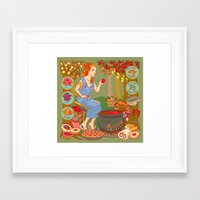 westeros Framed Art Prints featuring Jamming with Pectin by Julia Minamata