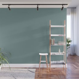 Dark Pastel Blue Green Solid Color Pairs W/ Behr's 2020 Forecast Trending Color Dragonfly PPU12-03 Wall Mural