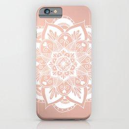 Flower Mandala on Rose Gold iPhone Case