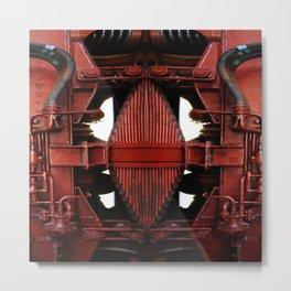 Mekkanikamente Rosso Metal Print