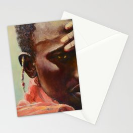 Dignity - Portrait of a Maasai Warrior. Oil on Canvas Stationery Cards