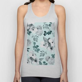 Night bloom - moonlit mint Unisex Tank Top