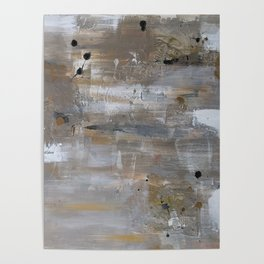 Silver and Gold Abstract Poster