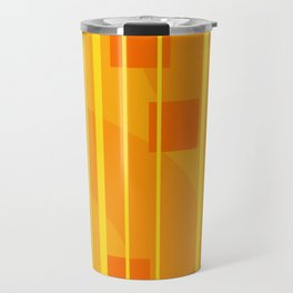 Stripes - Geometry Design Yellow Travel Mug