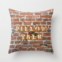 Pillow Talk - Brick Throw Pillow