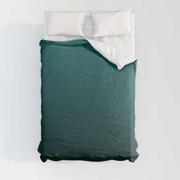 Gradient Collection - Deep Teal Turquoise - Accent Color Decor - Lowest Price On Site Comforters