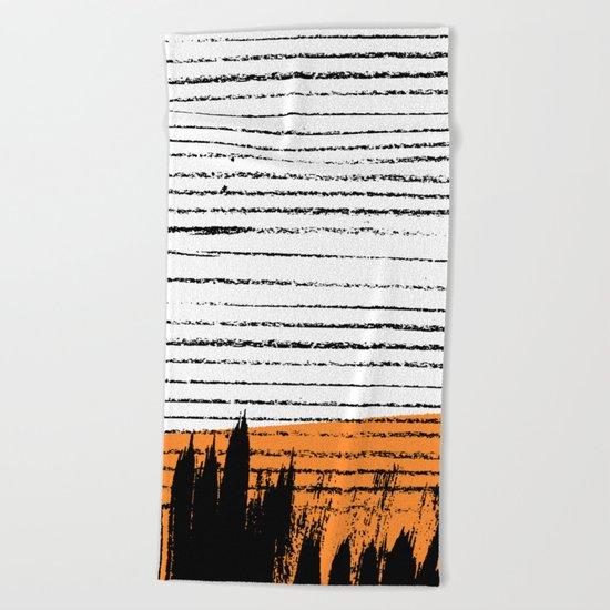Lines & Strokes 003 Beach Towel