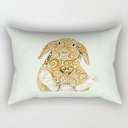 Swirly Bunny Rectangular Pillow
