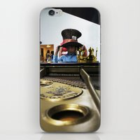 hat iPhone & iPod Skins featuring Hat by Faith Buchanan