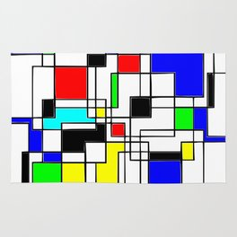 Homage to Piet Mondrian Rug