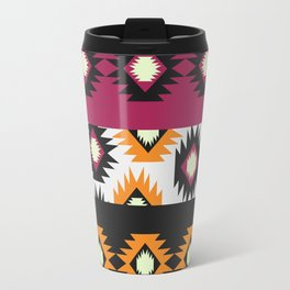 Ethnic shapes in purple and yellow Travel Mug