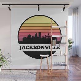 Jacksonville Skyline Wall Mural