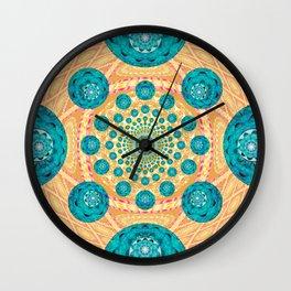 Elegant Boho Fractal Quilt Wall Clock