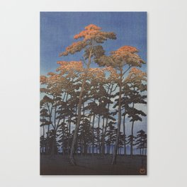 Hasui Japanese Woodblock Print - Hikawa park in Omiya Canvas Print