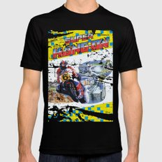 Super Hang-On Black Mens Fitted Tee MEDIUM