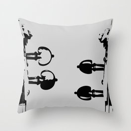Violin Background Throw Pillow