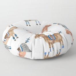Polo Pony Parade Floor Pillow