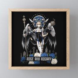 angel and demon Framed Mini Art Print