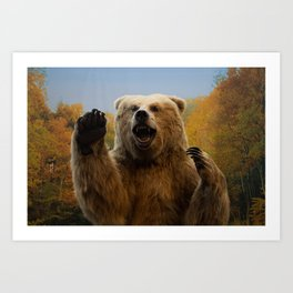 Hunter's Grizzly Bear - Landscape Photography Backdrop Art Print
