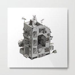 D - Alphabet Town Metal Print