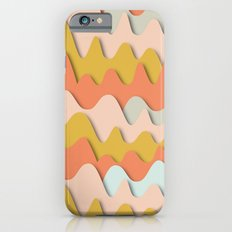 Colorful waves iPhone 6s Slim Case