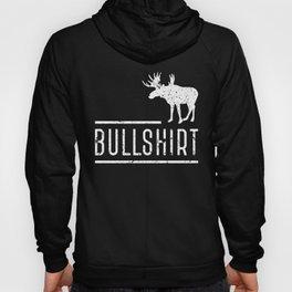 Bull Shirt Moose Silhouette Funny Puns Humor Hoody