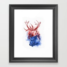 Red Stag and Blue Boar Framed Art Print