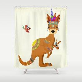TRIBAL KANGAROO Shower Curtain